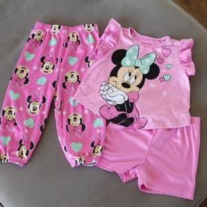 3 piece Minnie Mouse pajamas